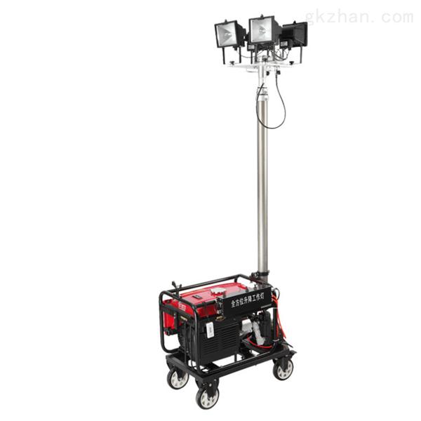 4*200W手摇升降照明灯车LED户外应急发电机
