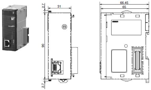 CJ1W-NC□81 / □82 外形尺寸 2 CJ1W-NC281_Dim