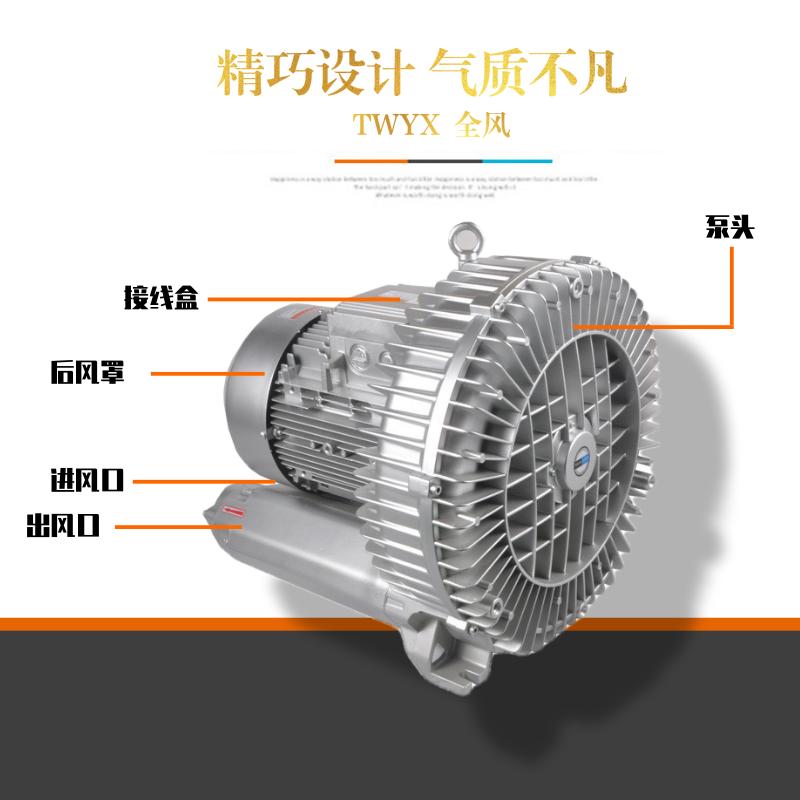 高压风机漩涡风机漩涡气泵真空泵 工业高压鼓风机增氧大功率风机示例图4