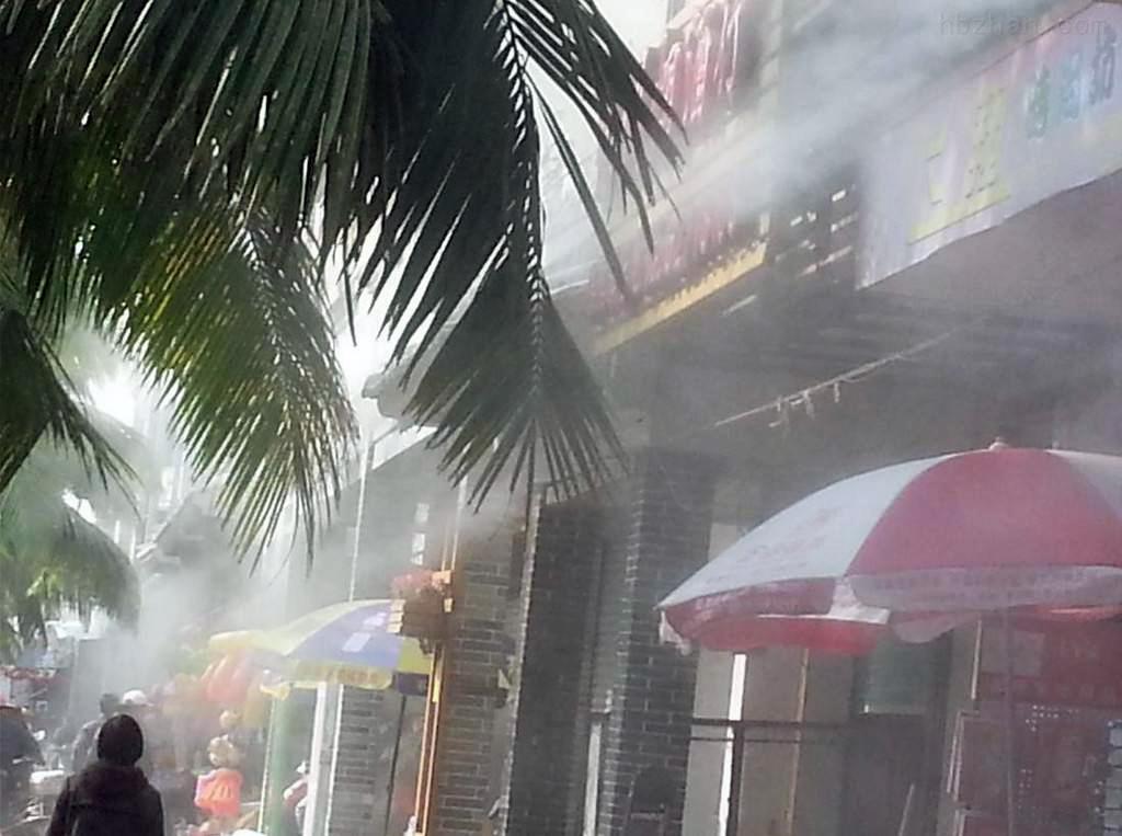 商业街喷雾降温设备