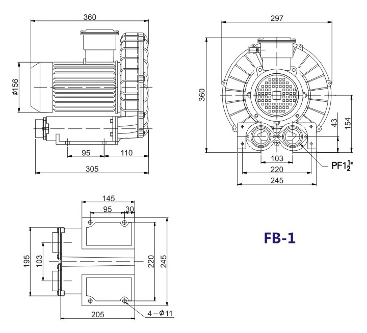哈尔滨油气输送防爆高压风机 FB-25油气输送防爆高压风机 厂家防爆风机示例图13