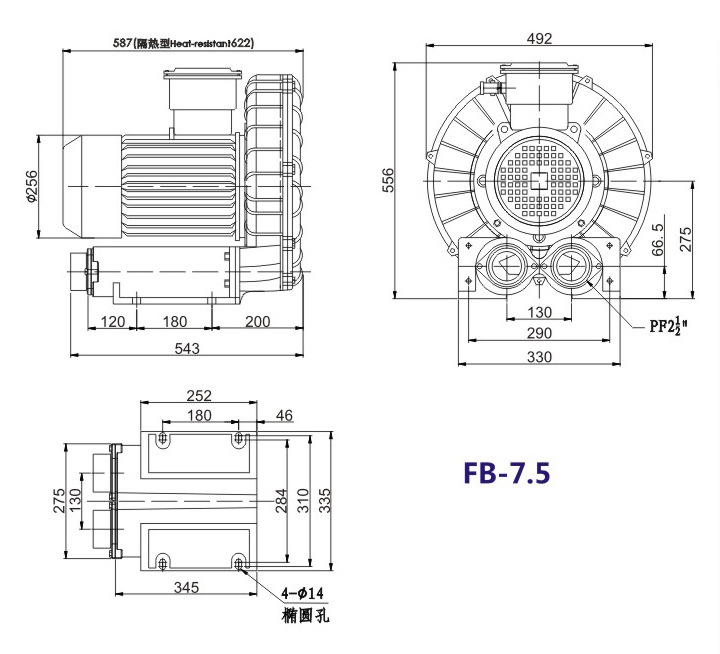 哈尔滨油气输送防爆高压风机 FB-25油气输送防爆高压风机 厂家直销防爆风机示例图17