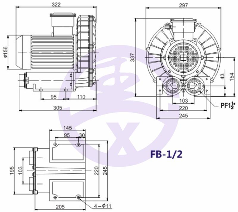 直销旋涡防爆高压风机 RB环形高压鼓风机  耐高温高压风机 旋涡防爆风机示例图5