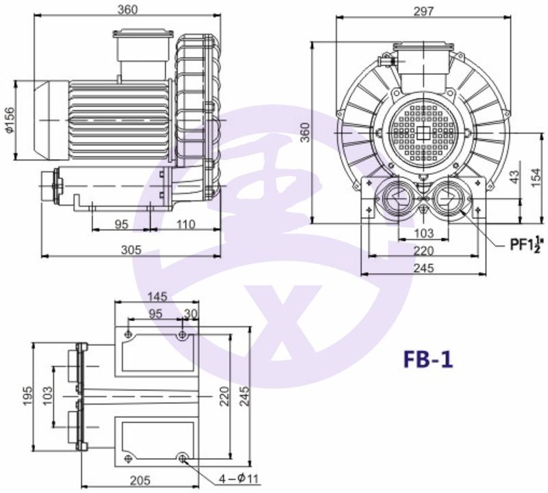 直销旋涡防爆高压风机 RB环形高压鼓风机  耐高温高压风机 旋涡防爆风机示例图6
