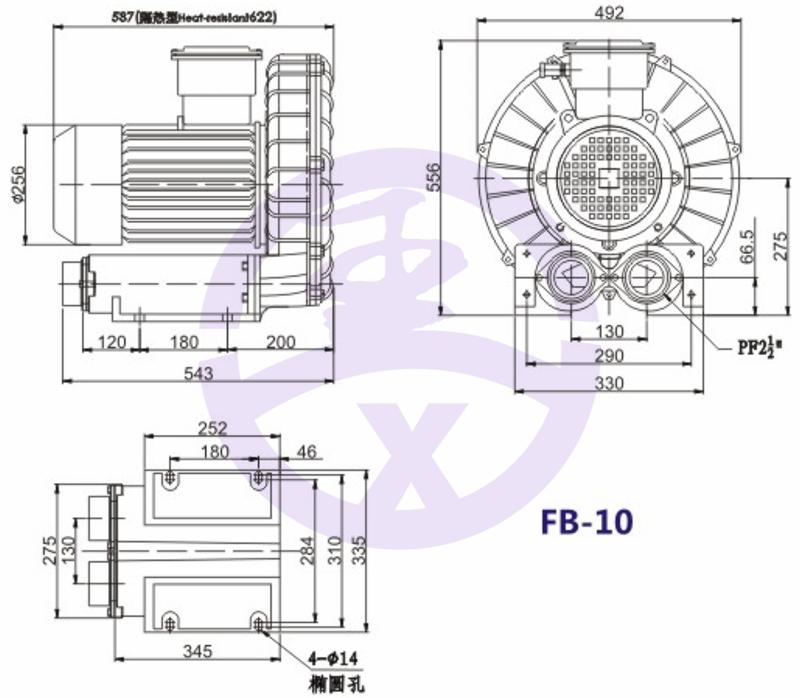 直销旋涡防爆高压风机 RB环形高压鼓风机  耐高温高压风机 旋涡防爆风机示例图11