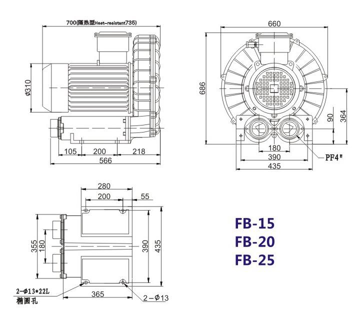 秦皇岛船用防爆高压风机 FB-25船用防爆高压风机 厂家防爆风机示例图19