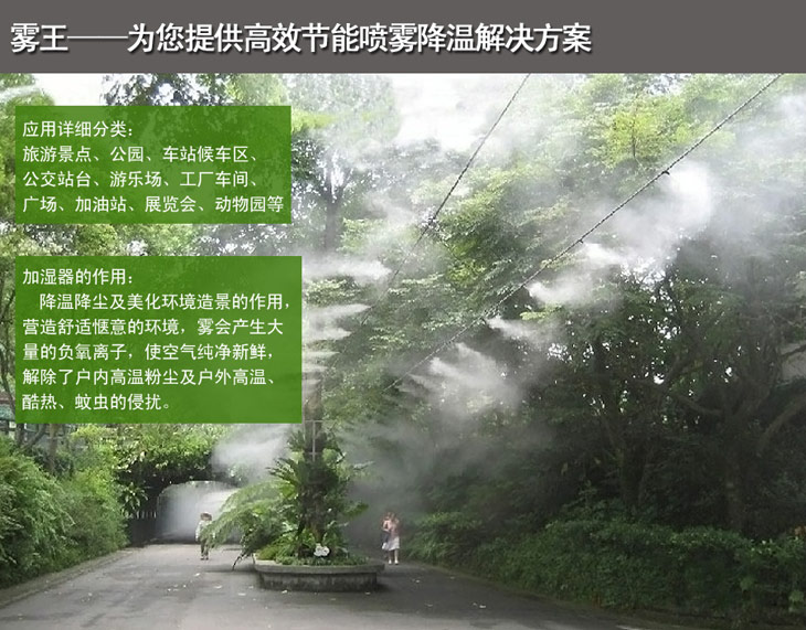 雾王提供高效节能喷雾降温解决方案