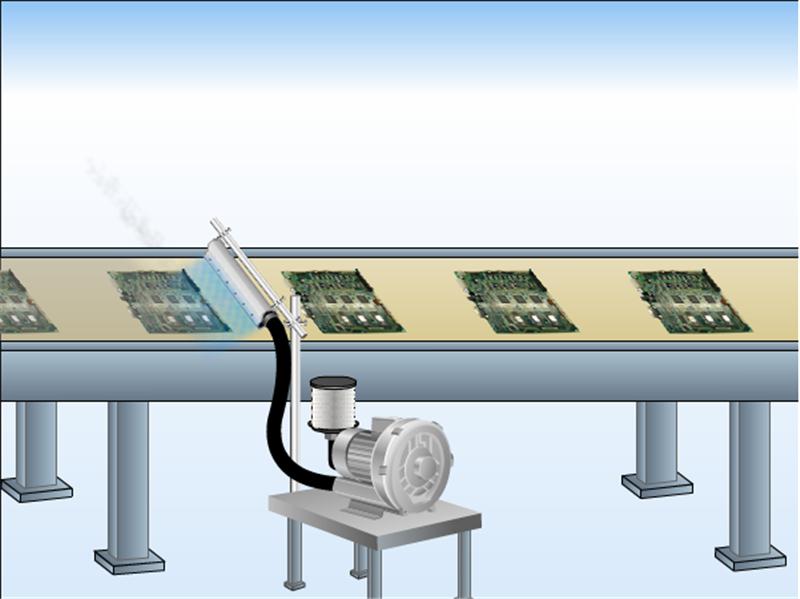 高精密铝合金风刀水滴式铝合金风刀玻璃吹水吹干风刀示例图10