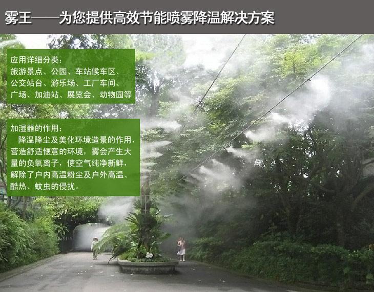 霧王提供節能噴霧降溫解決方案